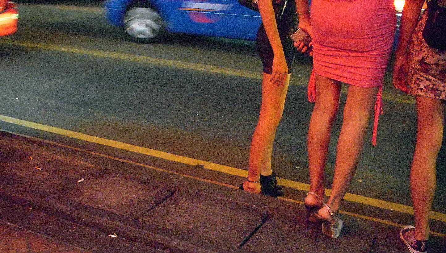 prostitute at work