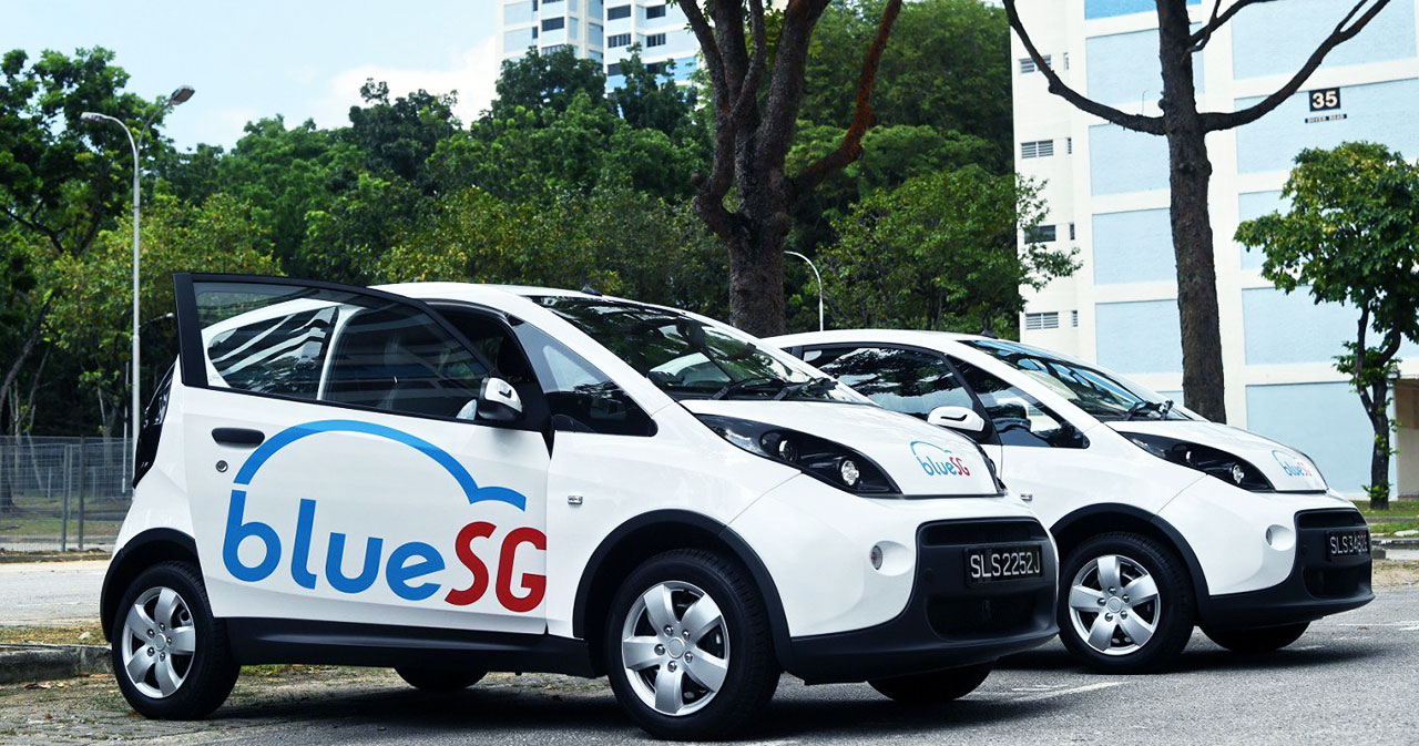 BlueSG Car Sharing Services Singapore